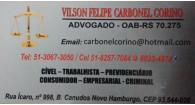 Tchê Encontrei - Vilson Felipe Carbonel Corino Advogado em Novo Hamburgo
