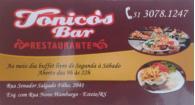 Tchê Encontrei - Tonico's Bar Restaurante – Restaurante em Esteio